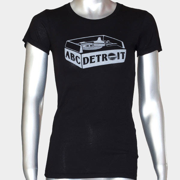 ABCDETROIT Turntable Techno T-Shirt Women's I Club Detroit