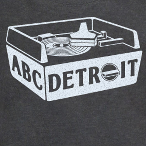 ABCDETROIT Turntable Scoop Tee