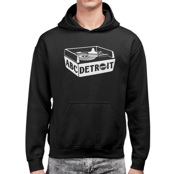 ABC Detroit Techno Turntable Unisex Hoodie Black | I Club Detroit