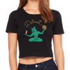 Cat Spirit of Detroit Women's Crop Top Black | I Club Detroit