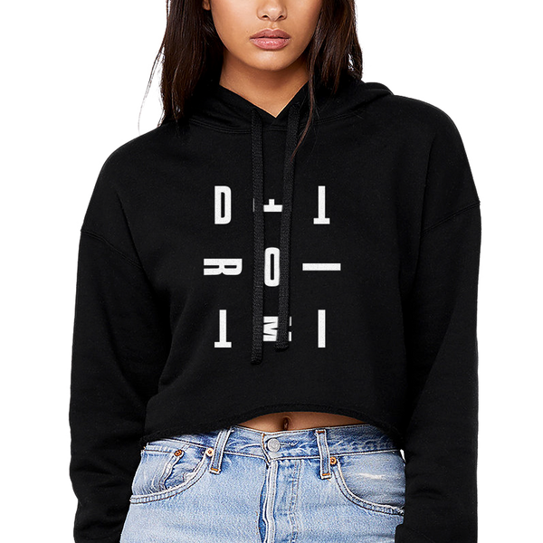 DETROIT MI Women's Crop Top Black | I Club Detroit