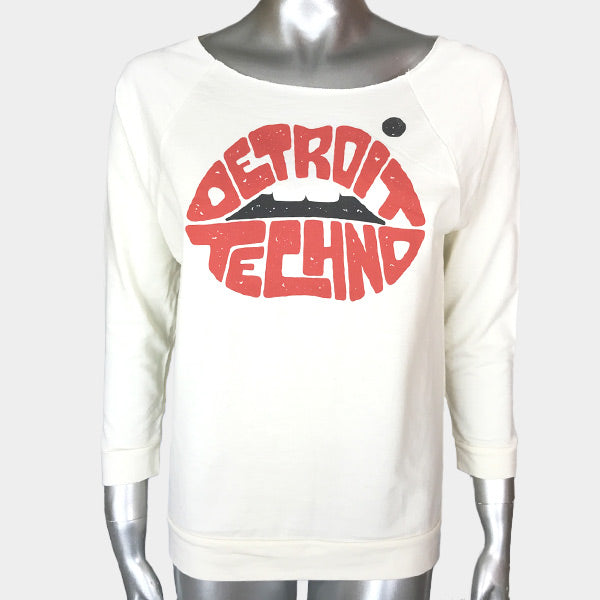 Detroit Techno Lips Raglan Fleece