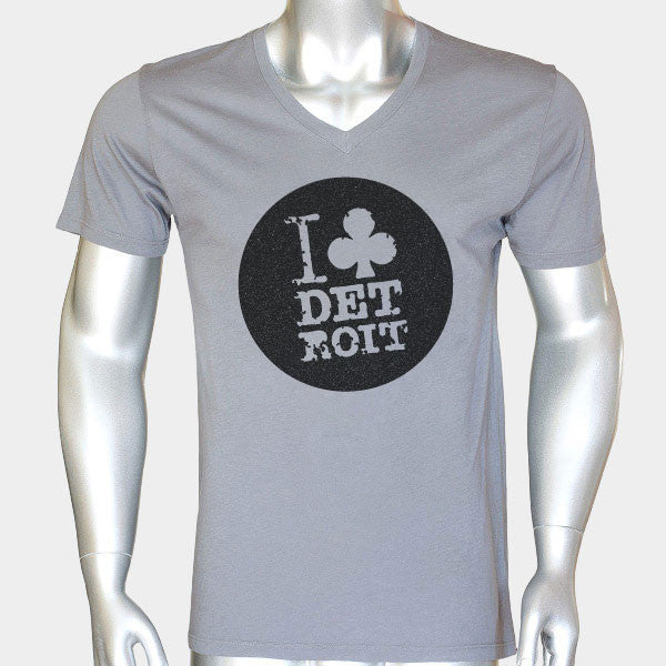 I Club Detroit Grey Techno T-Shirt V-Neck