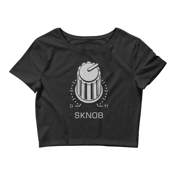 SKNOB Women's Crop Top Tee