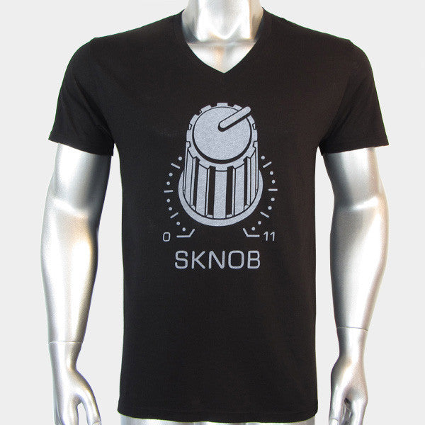SKNOB Knob Synthesizer T Shirt V Neck