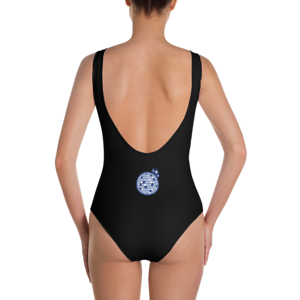 Disco Ball Disconnect Black Swimsuit Back | I Club Detroit