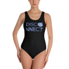 Disco Ball Disconnect Black Swimsuit Front | I Club Detroit