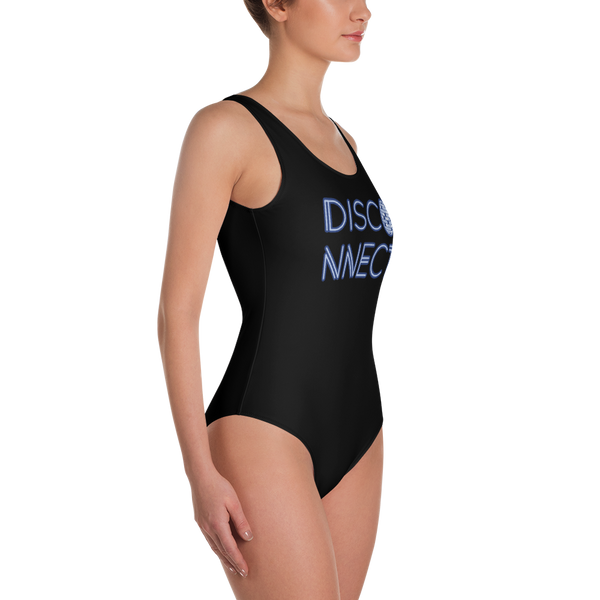 Disco Ball Disconnect One-Piece Swimsuit