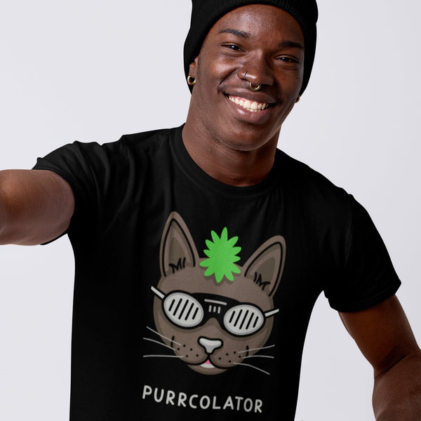 It's time for the percolator green Mohawk cat purrcolator shirt | I Club Detroit