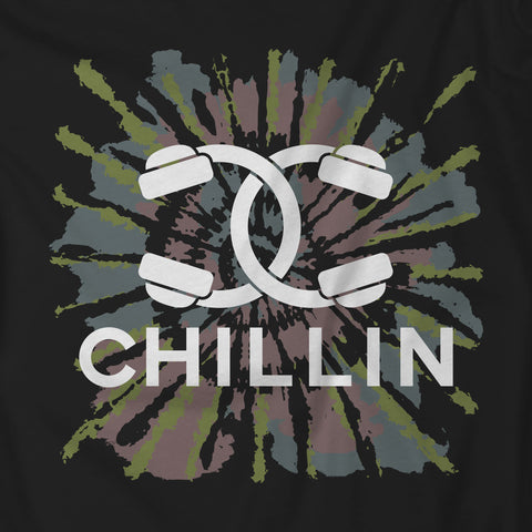 Headphones Couture Chillin Tie-Dye T-Shirt Black Unisex