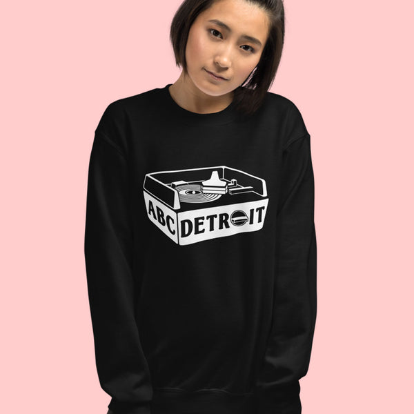 ABC Detroit Techno Turntable Sweatshirt Black | I Club Detroit