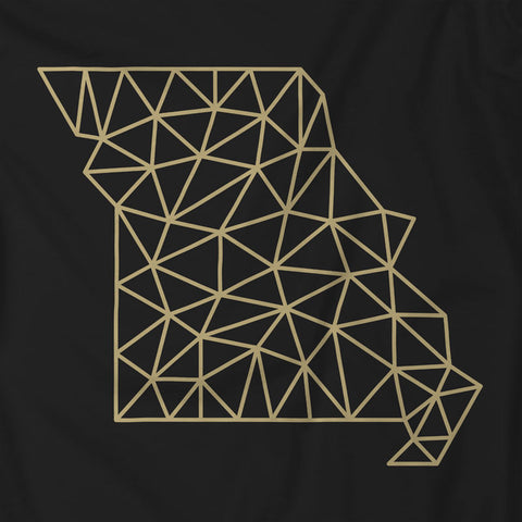 Wireframe Polygonal Missouri Unisex T-Shirt