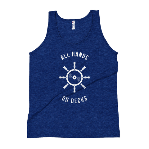 Techno Boat Party Unisex Tank Top