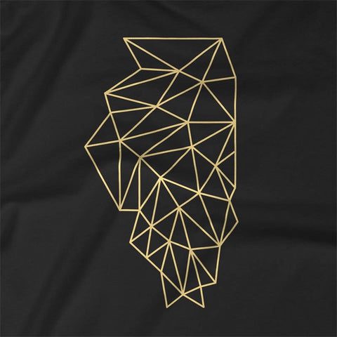 Wireframe Polygonal Illinois Unisex T-Shirt