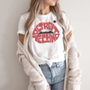 Detroit Techno Shirt with Lips Unisex White