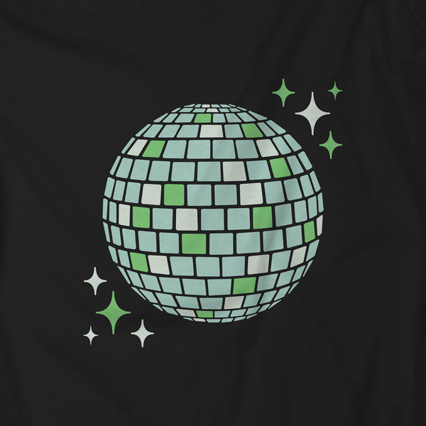 Green Disco Ball 90s Aesthetic Design Discoween Collection | I Club Detroit