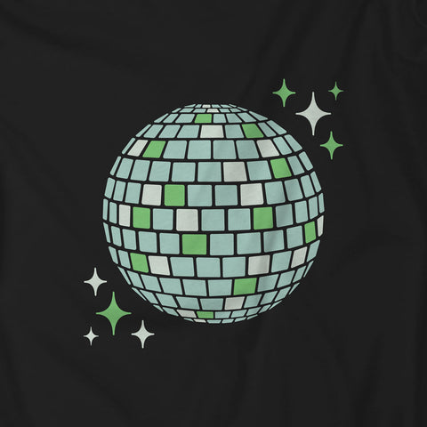 90s Aesthetic Green Disco Ball Unisex Shirt