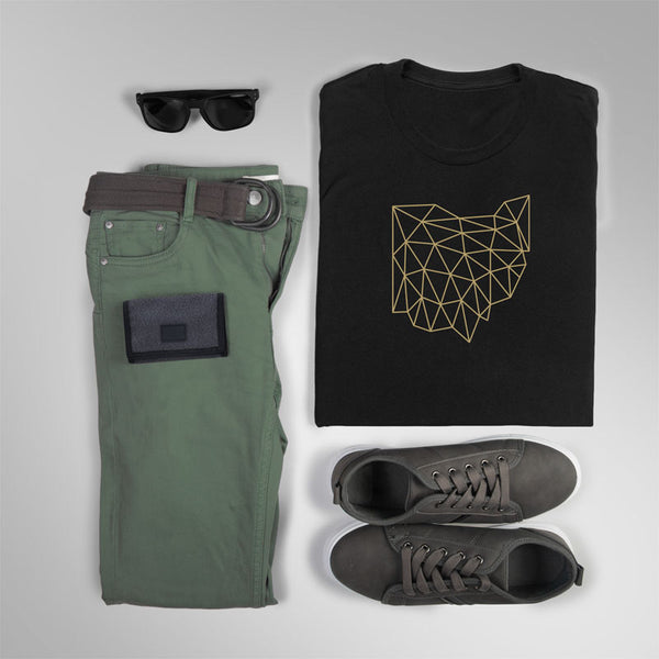 Wireframe Ohio Shirt Lifestyle Flat Lay | I Club Detroit