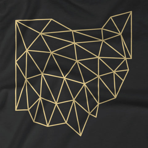 Wireframe Polygonal Ohio Unisex T-Shirt
