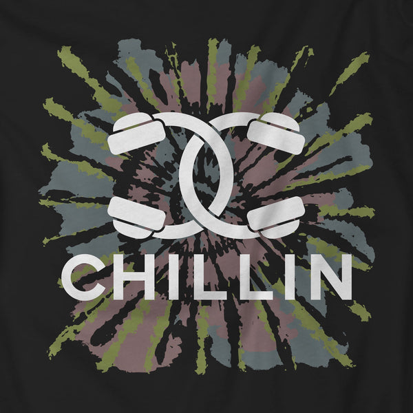 Chillin Couture Headphones Tie-Dye T-Shirt Black Unisex Sweatshirt
