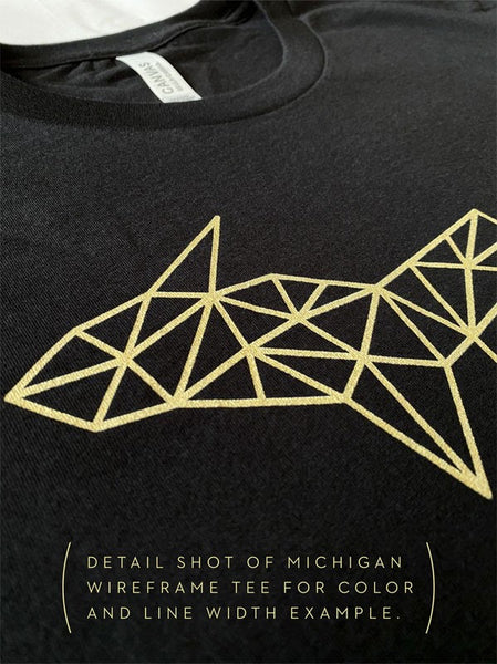 Wireframe Polygonal South Dakota Unisex T-Shirt