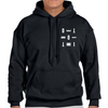 DETROIT MI Pocket Print Hoodie Black Unisex | I Club Detroit
