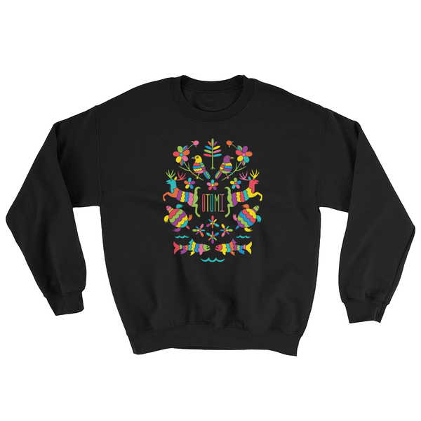 Mexican Otomi Michigan Sweatshirt Unisex Black| I Club Detroit