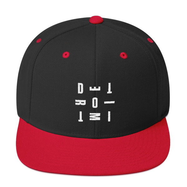 DETROIT MI Embroidered SnapBack Hat Red | I Club Detroit