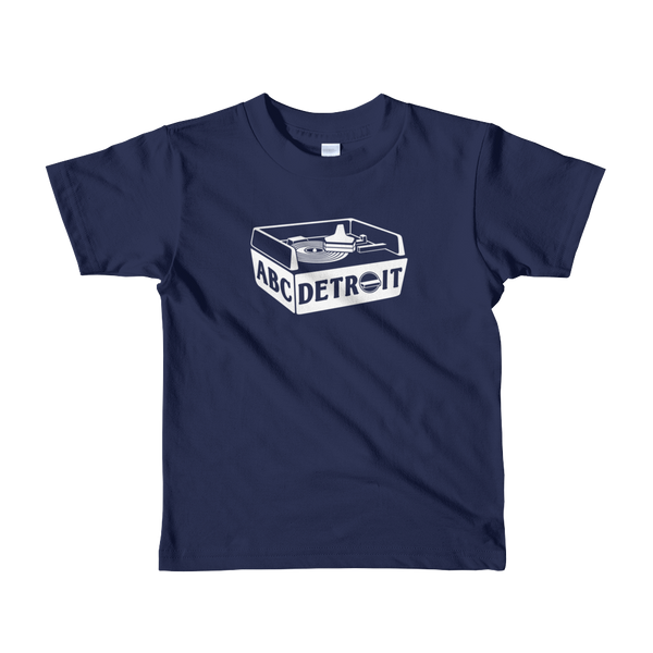 ABCDETROIT Kids T-Shirt Blue | I Club Detroit