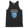 Milk Crate with Records DJ Unisex Tank Top | I Club Detroit