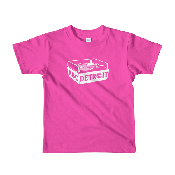 ABCDETROIT Kids T-Shirt Pink | I Club Detroit