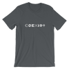 COEXIST Techno Music T-Shirt Unisex Asphalt Grey | I Club Detroit