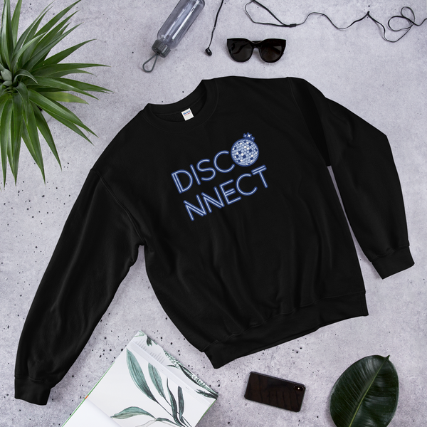 Disco Ball Disconnect Black Unisex Sweatshirt