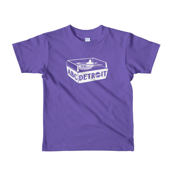 ABCDETROIT Kids T-Shirt Purple | I Club Detroit