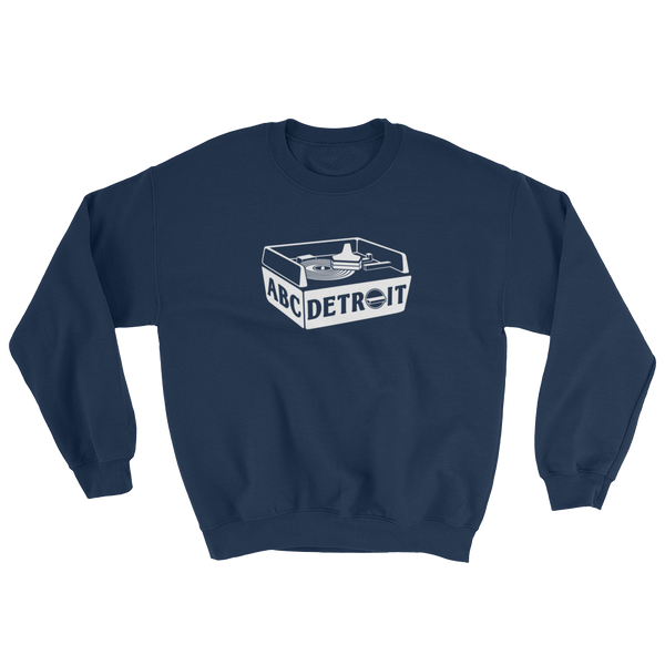 ABC Detroit Techno Turntable Sweatshirt Blue | I Club Detroit