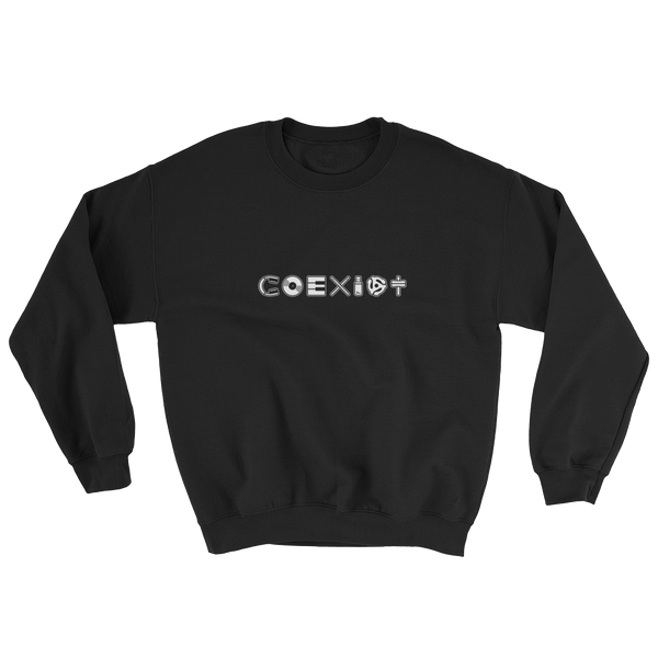 COEXIST Techno Music Sweatshirt Black | I Club Detroit