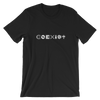 COEXIST Techno Music T-Shirt Unisex Black | I Club Detroit