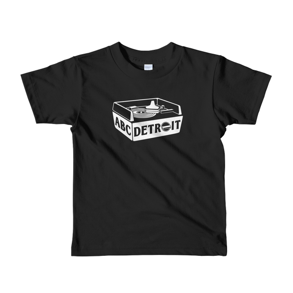 ABC Detroit Techno Turntable Kids T-Shirt Black | I Club Detroit