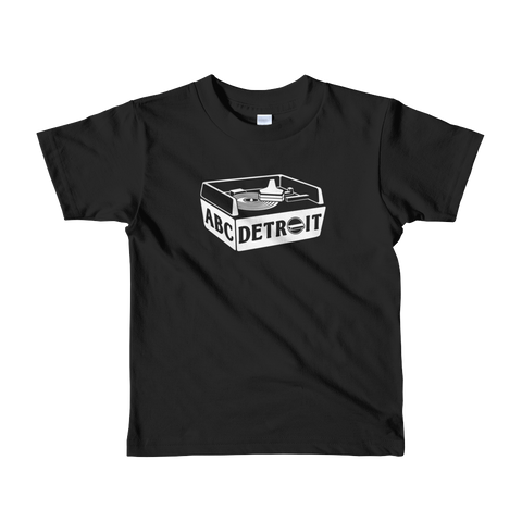 ABCDETROIT Turntable Kids T-Shirt
