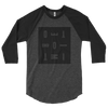DETROIT MI Knockout Typography Baseball Raglan Shirt Unisex Black Grey | I Club Detroit