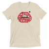Detroit Techno Lips Unisex T-Shirt Oatmeal Triblend | I Club Detroit