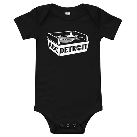 ABCDETROIT Turntable Baby Bodysuit Black