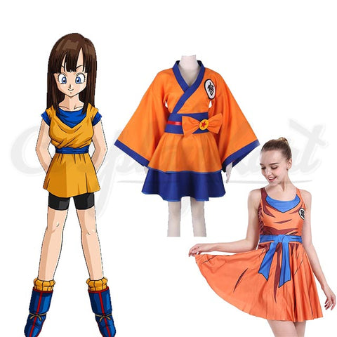 Goku Kids Costume - Female Lolita Kimono Dress Anime Cosplay