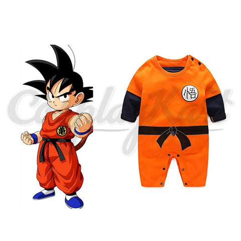 Goku Kids Costume - Newborn Baby Boys Son Goku Cloths Jumpsuit Babes Halloween Baby Boy Girls Costume