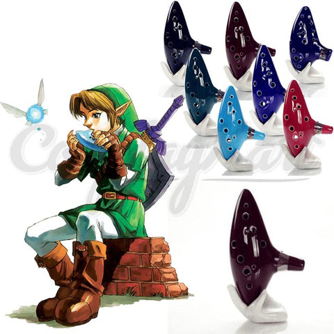 Zelda Props - Zelda Magic Ocarina Of Time Funny Ceramic Flute Pops