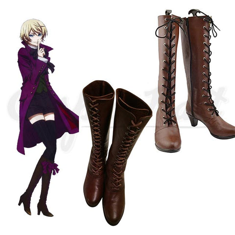Alois Trancy Wigs - Black Butler Alois Trancy Boots High Heel Party Boots