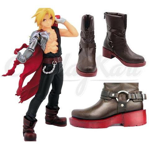 Edward Elric Shoes - Fullmetal Alchemist Cosplay Elric Boot Shoes