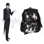 Black Butler Cosplay - New Anime Black Butler Sebastian Michaelis Unisex Shoulder Black Bag