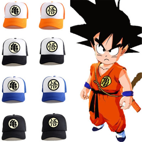 Goku Kids Costume - Goku Baseball Hat Flat Hip Hop Caps