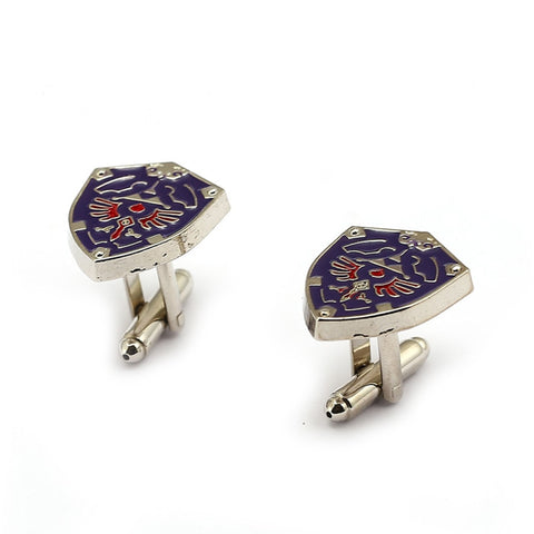 Zelda Props - Triforce Shield Cuff Links For Mens Button Jewelry High Quality